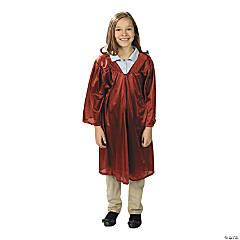 Kids' Burgundy Shiny Elementary School Graduation Robe