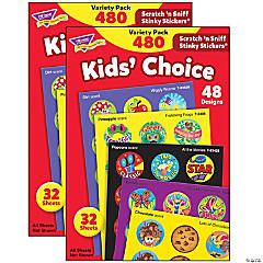 Kids' Choice Stinky Stickers® Variety Pack, 480 Per Pack, 2 Packs