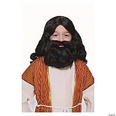 Kid's Christmas Pageant Biblical Wig Set