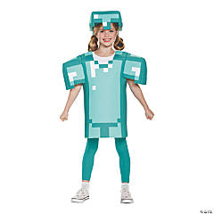 Kid's Classic Minecraft Armor Costume - Large