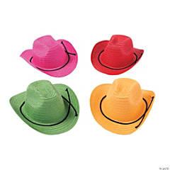 Kids' Colorful Cowboy Hats - 12 Pc.