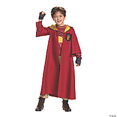 Kid's Deluxe Harry Potter Quidditch Gryffindor Costume - Medium