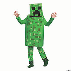 Kid's Deluxe Minecraft Creeper Costume - Large