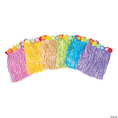 Kids' Flowered Hula Skirts - 48 Pc.