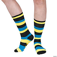 Kid's Fun Crew Socks with Grippers - Large