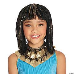 Kids' Gold & Black Cleopatra Wig