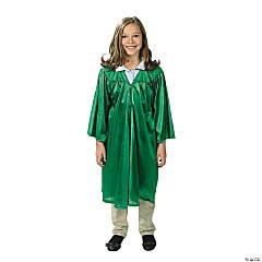 Kids' Green Shiny Elementary School Graduation Robe