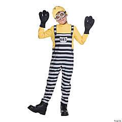 Kid's Jail Minion Tom Costume - Large
