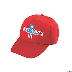 Kids' Jesus Saves USA Baseball Caps