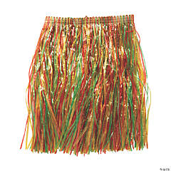 Kids' Multicolor Grass Hula Skirt