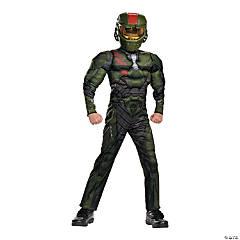 Kid's Muscle Halo Wars Jerome Costume - Large