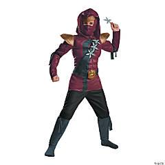 Kid's Muscle Red Fire Ninja Costume - Medium