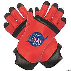 Kid's Orange Astronaut Gloves