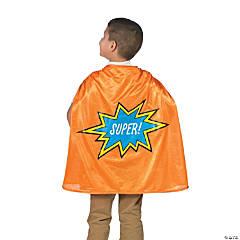 Kids' Orange Graduation Superhero Cape