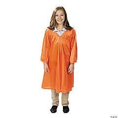 Kids' Orange Shiny Elementary School Graduation Robe