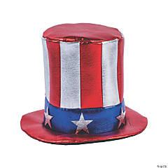 Kids' Patriotic Shiny Uncle Sam Hat