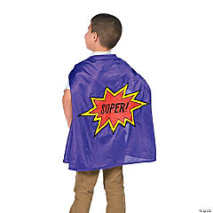Kids' Purple Elementary School Graduation Superhero Cape