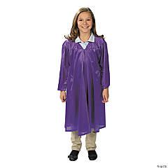 Kids' Purple Shiny Elementary School Graduation Robe
