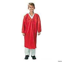Kids' Red Shiny Elementary School Graduation Robe