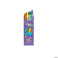 Kids Rule™ 4-Piece Crayon Sets