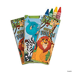 """Kids Rule"" Animal Theme Crayons"