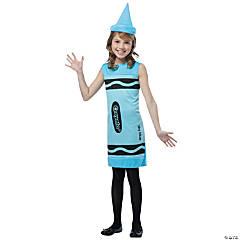 Kid's Sky Blue Crayon Costume - Medium