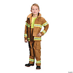Kid's Tan Firefighter Costume