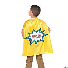 Kids' Yellow Elementary School Graduation Superhero Cape