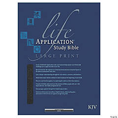 King James Version Life Application Study Bible - Large - Black - Indexed