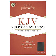 King James Version Personal Giant Reference Bible - Black Faux Leather - Indexed