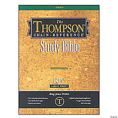 King James Version Thompson Chain Reference Bible - Black - Indexed