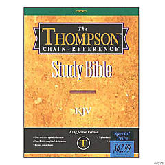 King James Version Thompson Chain - Reference Bible - Black Indexed