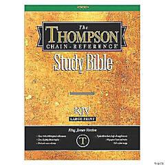 King James Version Thompson Chain - Reference Bible/Large - Black