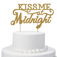 Kiss Me at Midnght Cake Topper