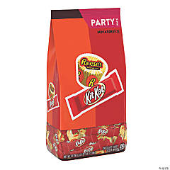 KIT KAT and REESE'S Milk Chocolate Miniatures Stand Up Bag, 33.36 oz, 2 pack