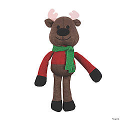 Knitted Stuffed Reindeer