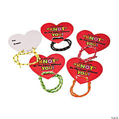 Knot Bracelets with Valentine's Day Cards