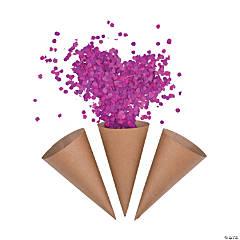 Kraft Paper Confetti Cones