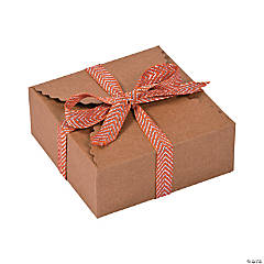 Kraft Paper Scalloped Edge Favor Boxes