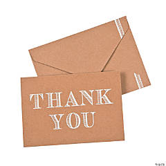 Kraft Paper Thank You Notes