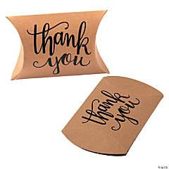 Kraft Paper Thank You Pillow Boxes