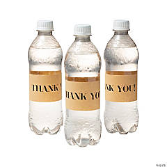 Kraft Paper Thank You Water Bottle Labels