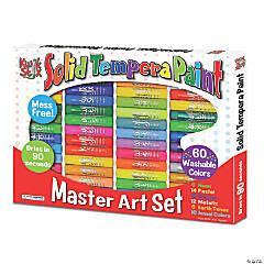 Kwik™ Stix Tempera Paint, Art Set, 60 Colors