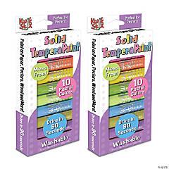 Kwik™ Stix Tempera Paint, Pastel Tones, 10 Per Pack, 2 Packs