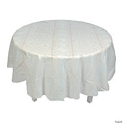 Lace Print Round Tablecloth