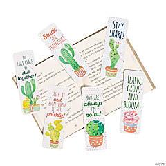 Laminated Cactus Bookmarks