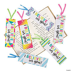 Laminated I Believe In You Bookmarks