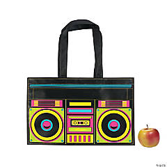 Laminated Large Boombox Tote Bags