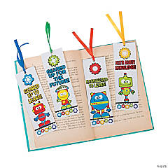 Laminated STEM Robots & Gears Bookmarks