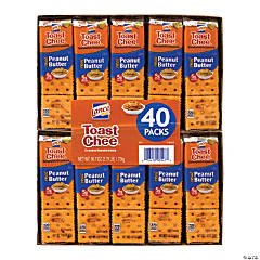 LANCE Toast Chee Peanut Butter Cracker Sandwiches, 40 Count